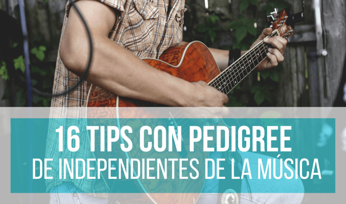 independientes de la música